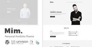 Mim – Personal Portfolio WordPress Theme